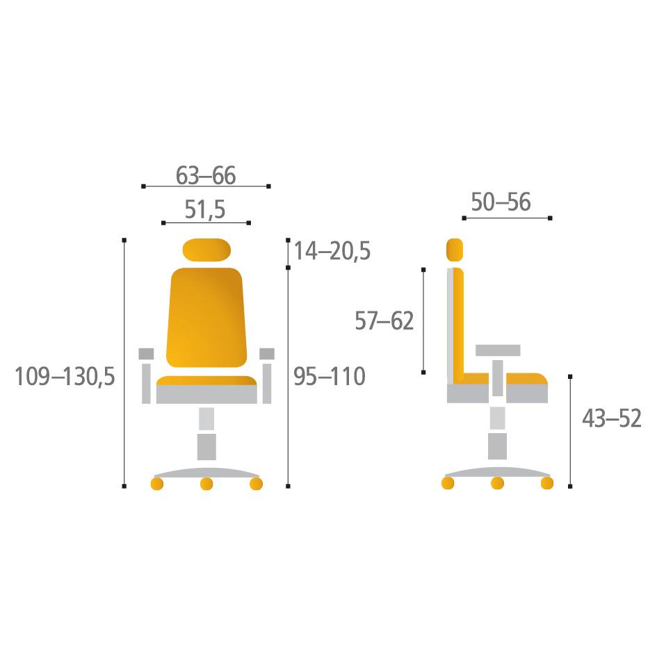 Parametry židle