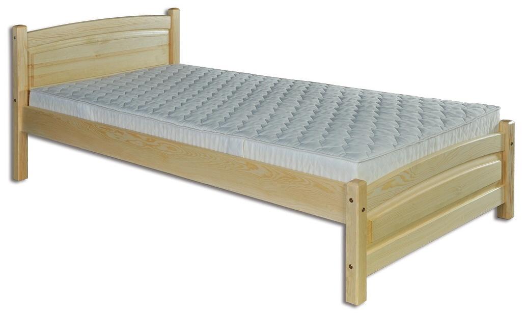 65fb4a78080f LK125-90 dřevěná postel masiv jednolůžko 90x200 cm Drewmax -skladem OLŠE 1ks