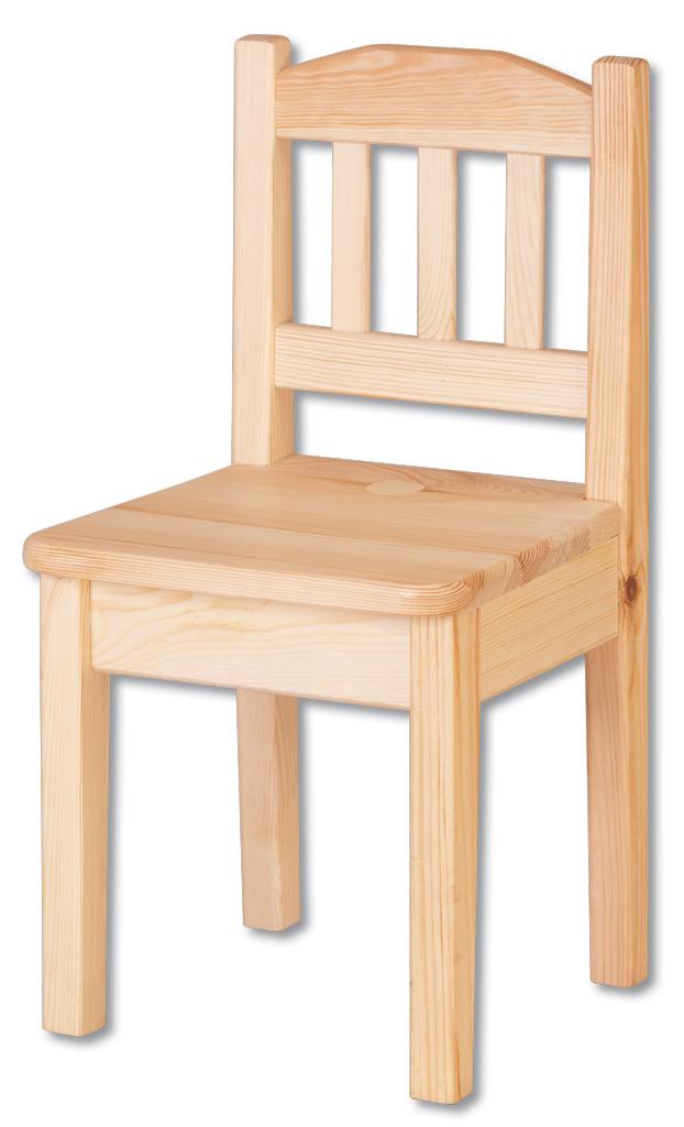796b1f9687f8 AD241 dřevěná dětská židle masiv borovice Drewmax